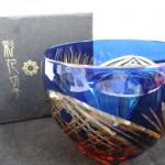 【食器】 彩花切子 瑠璃ロックグラス タンブラー 買取させていただきました。