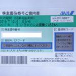 ANA株主優待券 買取させていただきました。