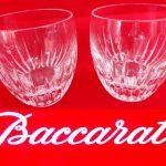 バカラ マッセナ ペアロックグラス 買取させていただきました。